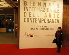 Theresa Lee at entrace to the Biennale Exhibition